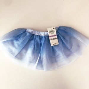 NWT Baby Girls Blue watercolor tutu, size 6-9 mo